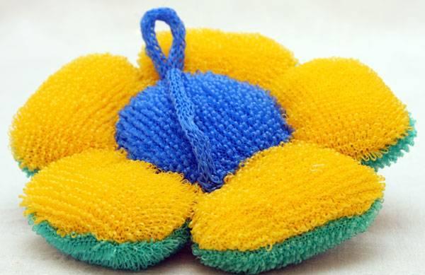 Вязанные мочалки для бани схемы