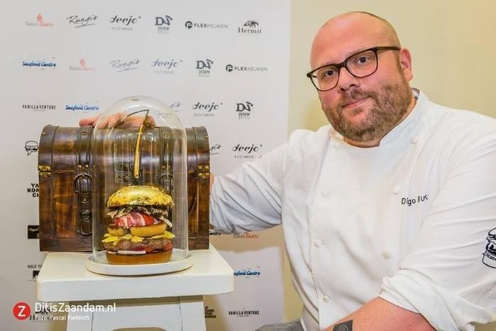 Роскошный гамбургер стоимостью 2000 евро! Шедевры голландских поваров