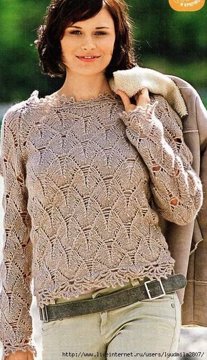 Ажурный вязаный пуловер с доставкой