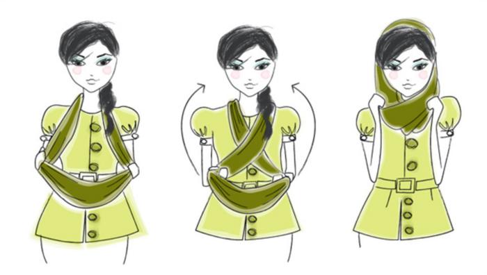 Как завязать сплошной шарф