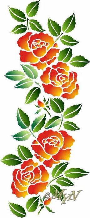 трафарет цветы (4) (288x700, 235Kb)