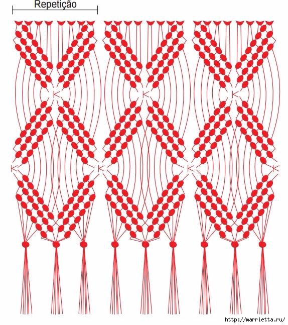 Бахрома в технике макраме для декорирования полотенца (4) (574x647, 330Kb)