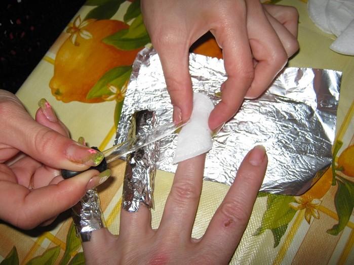 Как снять шеллак дома без фольги