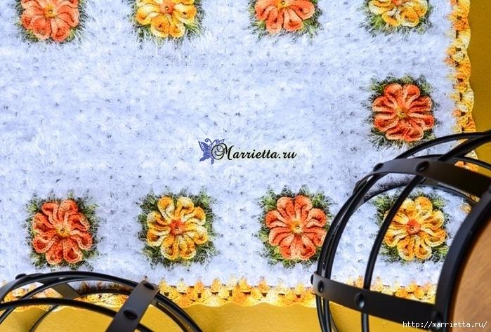 Пушистый коврик из меланжевой и пряжи «травка» (3) (700x473, 334Kb)