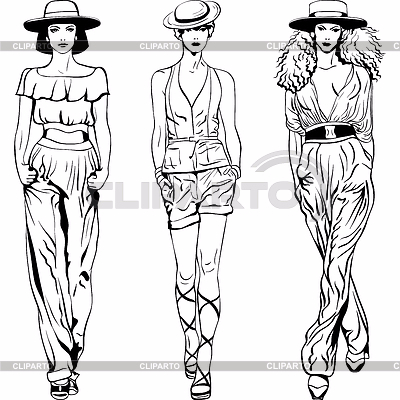 3257235-fashion-top-models-in-trouser-suits-and-hats (400x400, 153Kb)