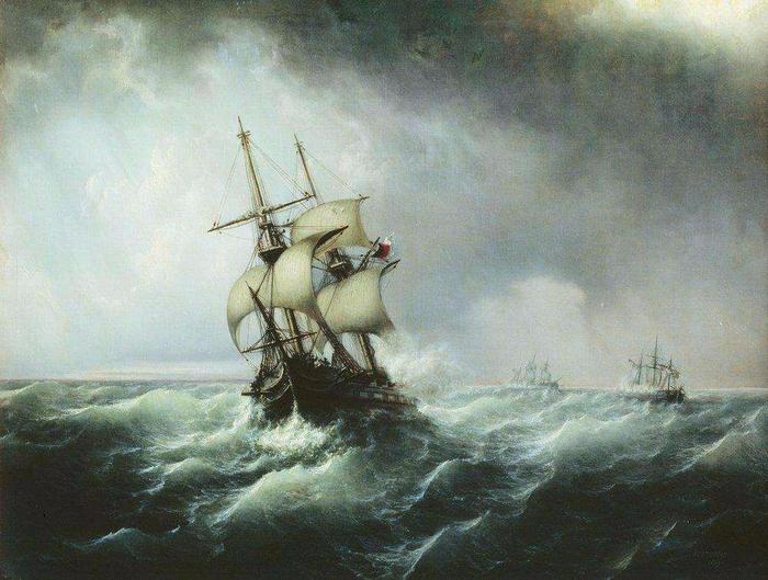 Морской бой. 1859 (700x529, 405Kb)