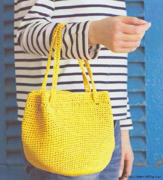 Две летние сумочки крючком. Схемы вязания (2) (529x583, 295Kb)