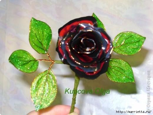 Цветы handmade из витражных красок. Мастер-класс (7) (520x391, 129Kb)
