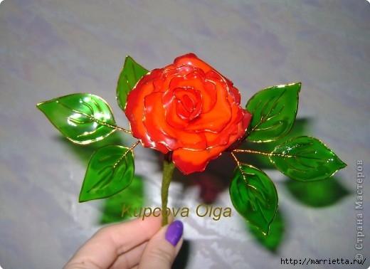 Цветы handmade из витражных красок. Мастер-класс (11) (520x378, 111Kb)