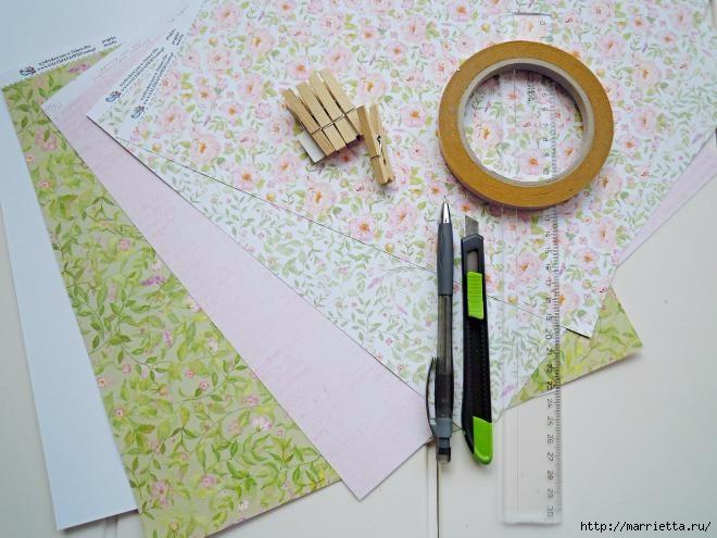 Домики - подвески из бумаги. Шаблон (2) (660x495, 166Kb)