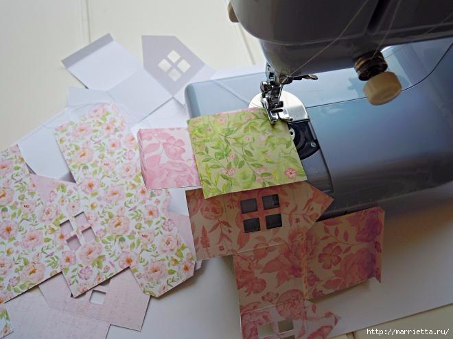 Домики - подвески из бумаги. Шаблон (4) (660x495, 139Kb)