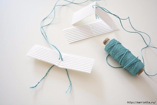 Домики - подвески из бумаги. Шаблон (10) (660x440, 93Kb)