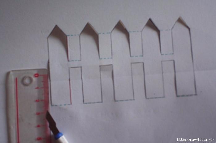 Открытка с забором своими руками (5) (700x464, 140Kb)
