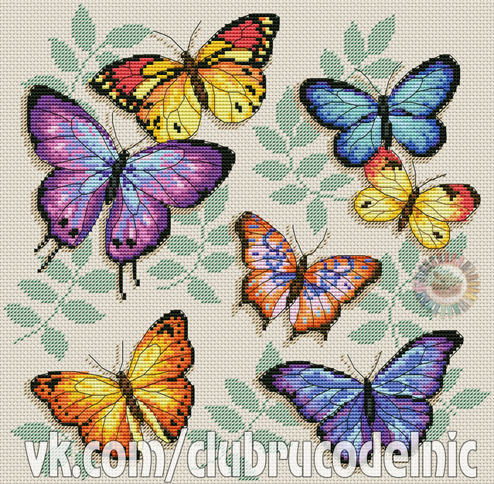 Butterfly profusion (700x685, 871Kb)