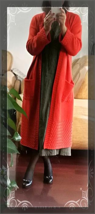 Очень красивое длинное пальто спицами (4) (311x700, 197Kb)