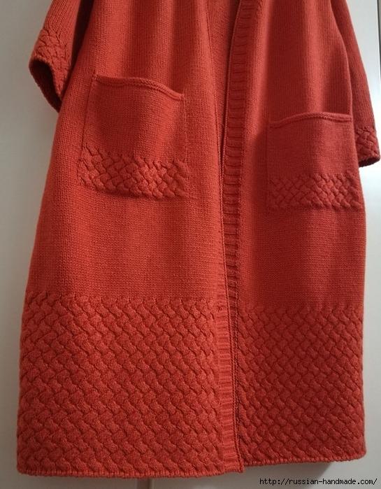 Очень красивое длинное пальто спицами (12) (545x700, 317Kb)