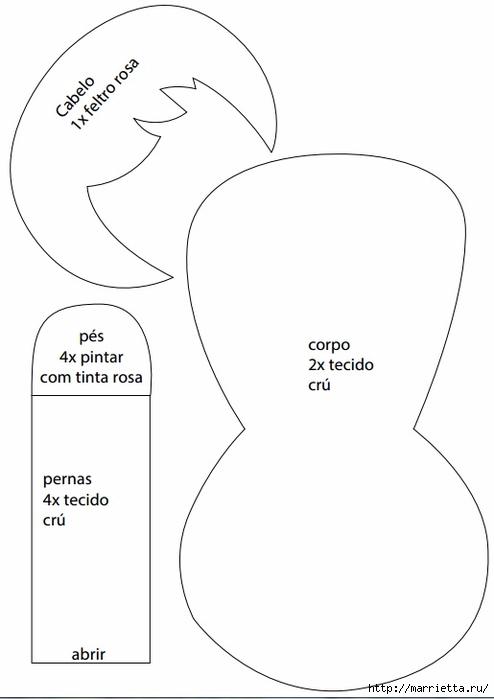 Текстильная куколка Бабочка. Выкройка (5) (494x700, 79Kb)