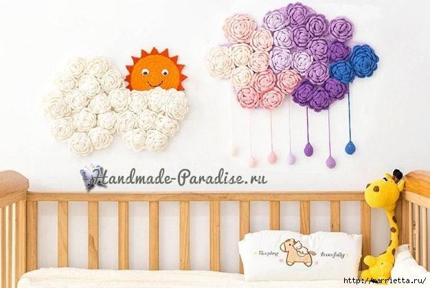 Тучка в розочках. Вязаное панно для детской комнаты (3) (626x419, 141Kb)