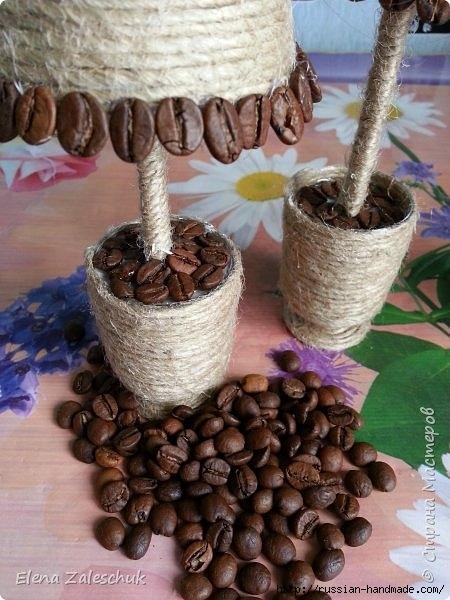 Елочки из джутового шпагата и кофейных зерен (16) (450x600, 179Kb)