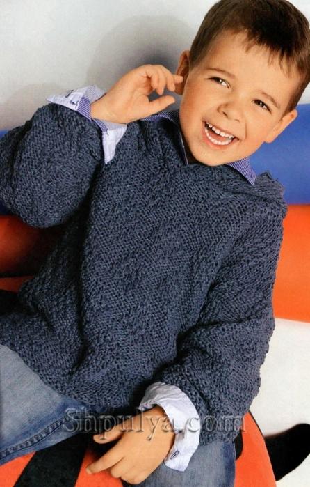 Пуловер с капюшоном для мальчика, пуловер для мальчика спицами описание схема, детский пуловер спицами описание схема, пуловер для мальчика 4-8 лет связать, вязание для детей с описанием, вязание для мальчиков, пуловер для мальчика спицами описание схема, свитер для мальчика спицами, жаккардовый пуловер спицами, пряжа для вязания спицами, купить пряжу, сайт о вязании спицами, Шпуля сайт о вязании, www.shpulya.com/5557795_1785_1 (446x700, 260Kb)