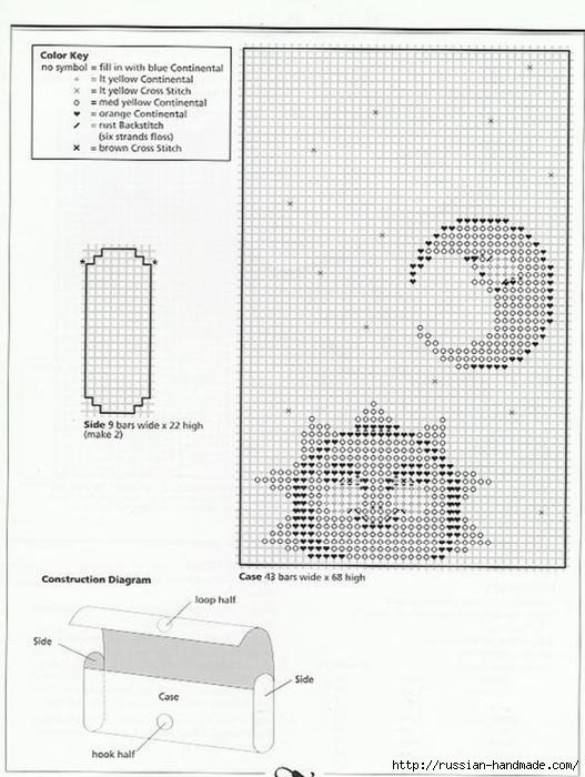Очечники из пластиковой канвы с вышивкой (3) (527x700, 219Kb)