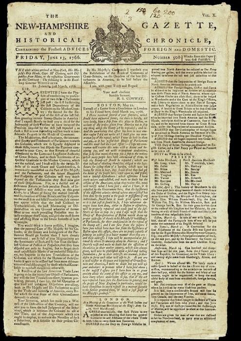 Где была напечатана первая газета?