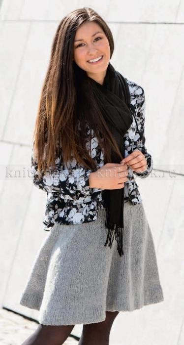 Юбка от Knitting Fever.
