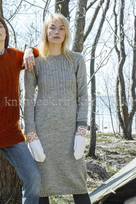 Теплое и удобное платье от Novita.