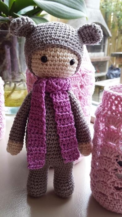 Куколка в костюме медвежонка