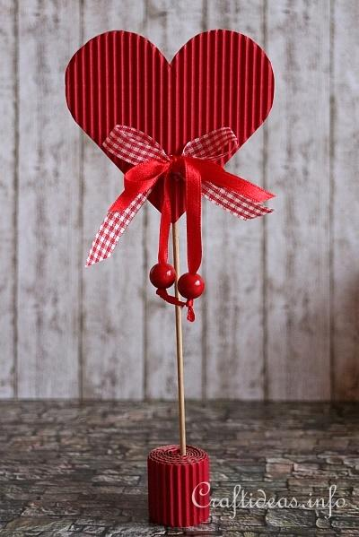 Сувенир «Сердце» к Дню Святого Валентина. Мастер-класс. Шаблоны.