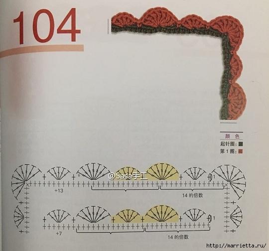 Детский плед крючком мотивами с мишками, львами и тиграми (6) (540x504, 143Kb)