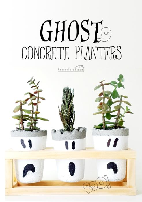DIY - Ghost Concrete Planters (492x700, 236Kb)