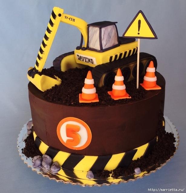 Торт экскаватор мастер класс