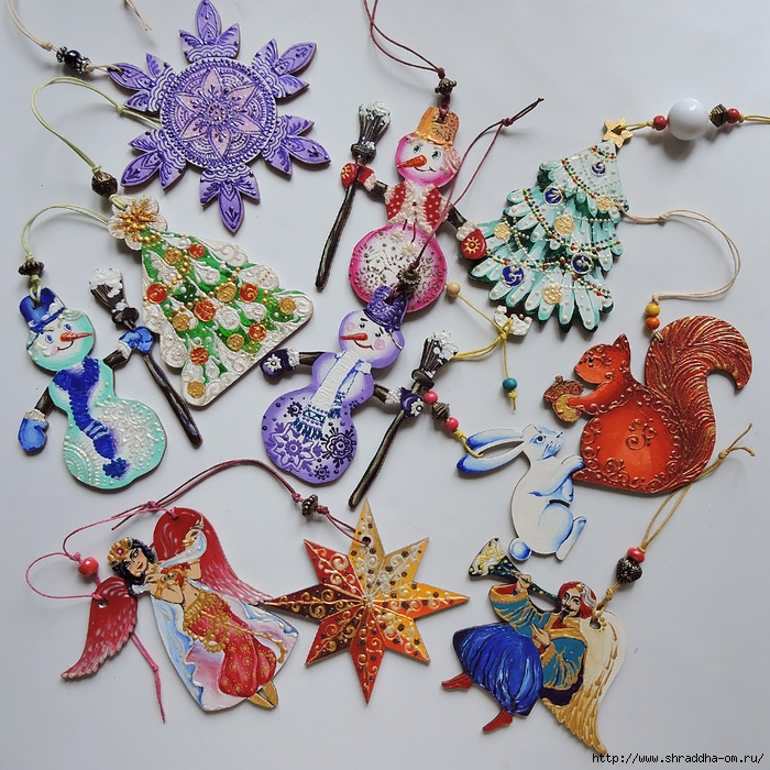 Сhristmas tree decorations, set of 10 toys, ShraddhaArt (5) (700x700, 446Kb)