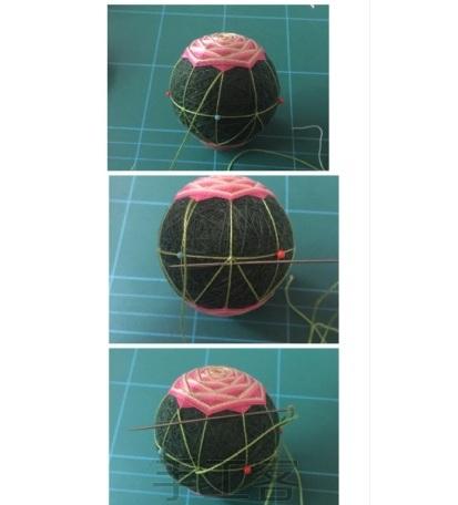 Японский шар темари с розой (13) (413x456, 86Kb)