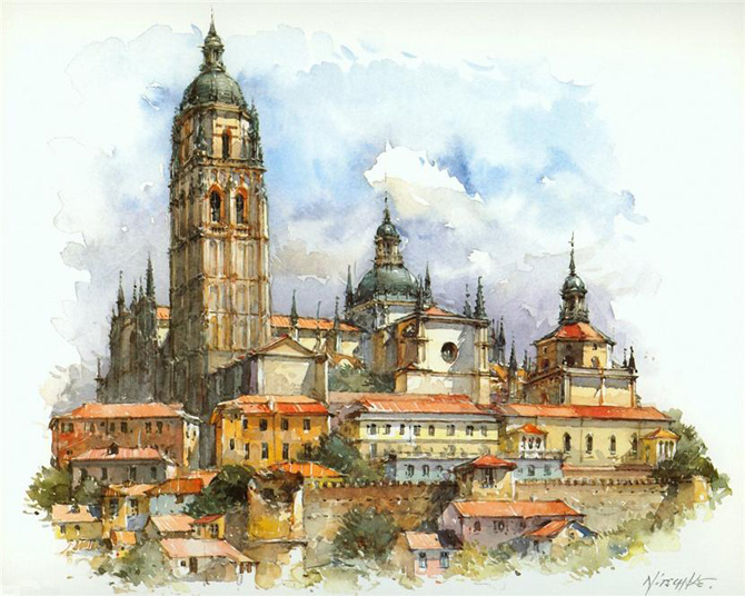 Europe_Cities_Watercolor_Detlev_Nitschke_7 (670x536, 303Kb)