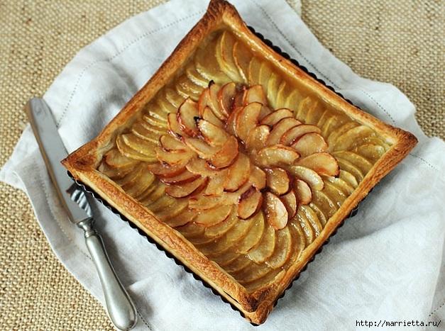 Яблочный пирог с подсоленным карамельным соусом(1) (627x467, 259Kb)