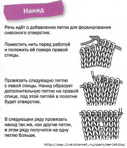 Основы вязания: накид