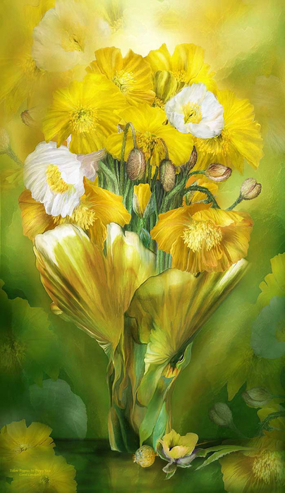yellow-poppies-in-poppy-vase-carol-cavalaris2 (404x700, 341Kb)