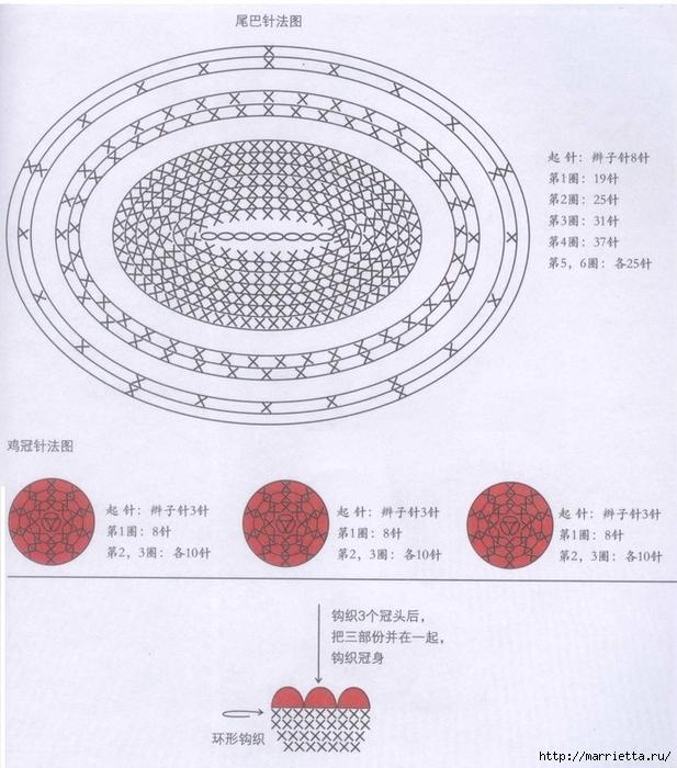 Курочка амигуруми. Схемы вязания (4) (617x700, 289Kb)