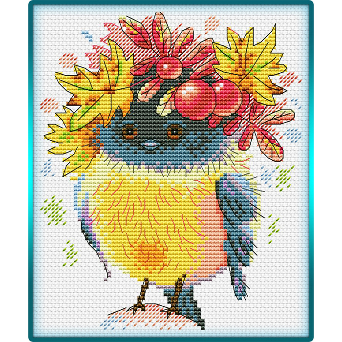 Autumn Little Bird (700x700, 726Kb)
