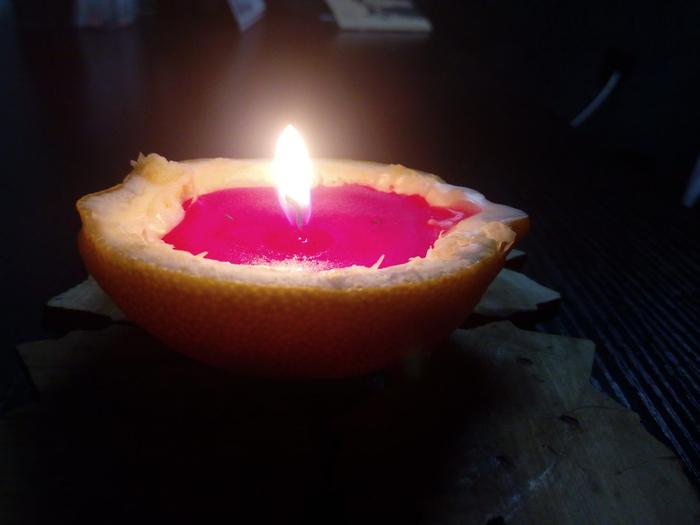 лимонные свечки