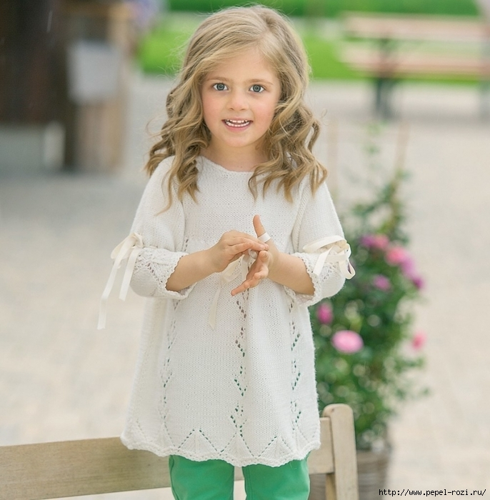 Нежная туника с лентами для маленькой принцессы!