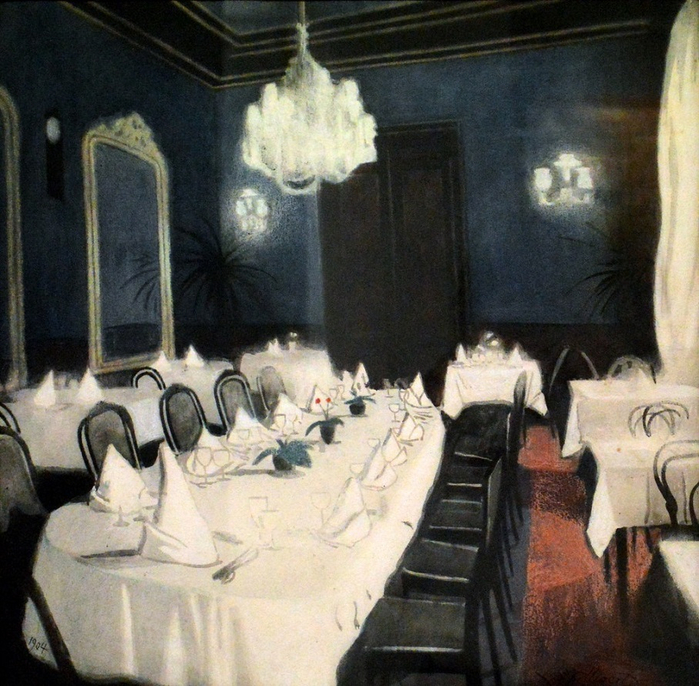 Столовая в отеле (Salle de tables d'hôtes)---The Restaurant. 1904 (700x686, 513Kb)