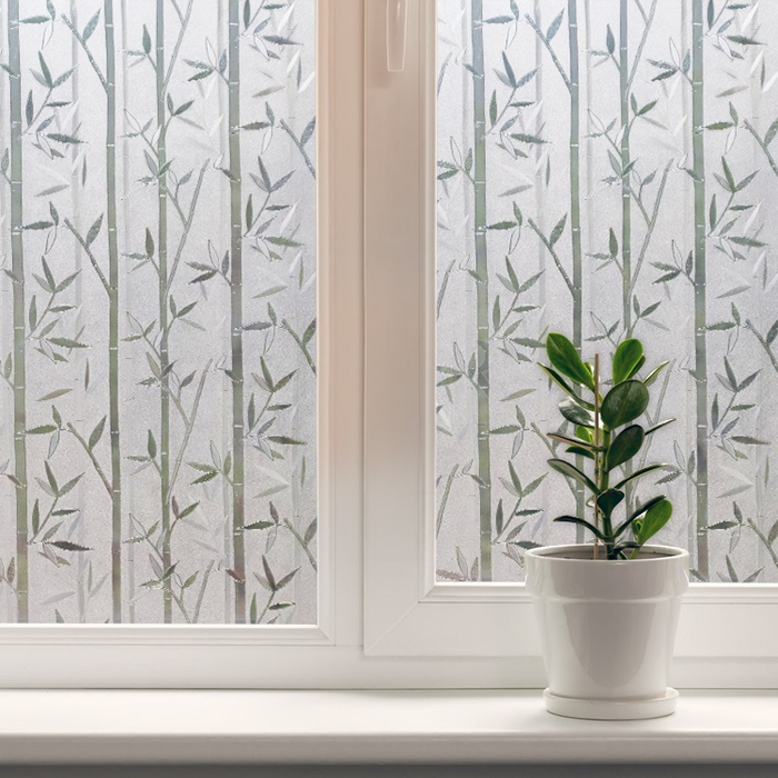 Static Cling Decorative Privacy Window Film Bamboo Pattern Frosted Glass Door Film-02 (700x700, 402Kb)