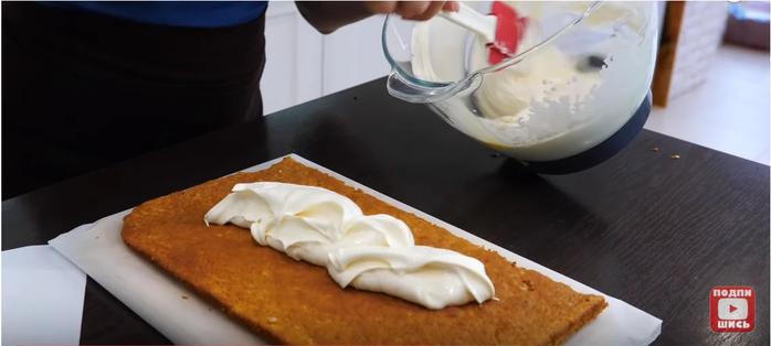 "alt=""Торт «Белочка» крем со вкусом мороженого"""