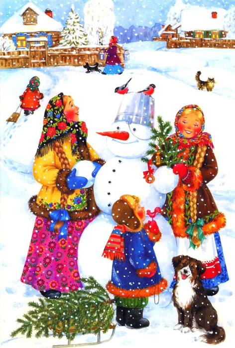 300304c180f49b687b0c943d3b93059c--santa-paintings-winter-time (472x700, 431Kb)