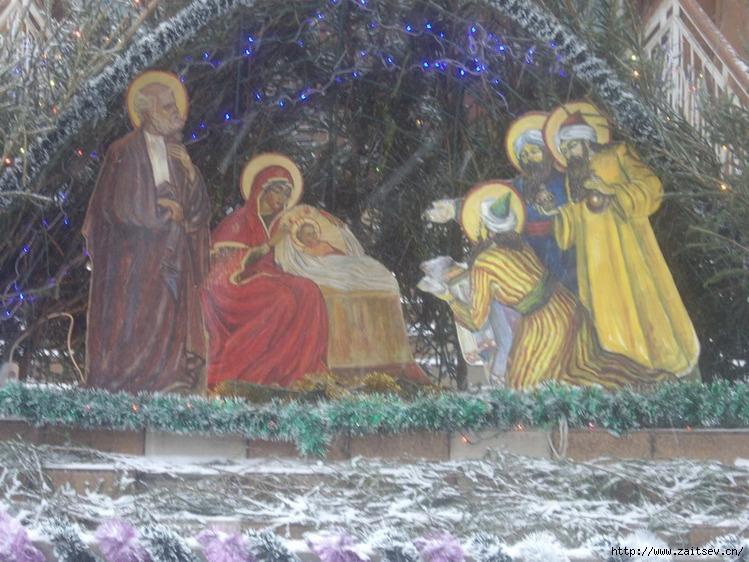 рисунки на тему рождество христово красками