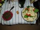[+] Увеличить - Оливье и свекольный салат с орехами