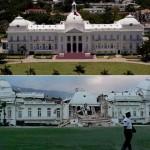 Президентский дворец в Порт-о-Пренс до и после землетрясения.